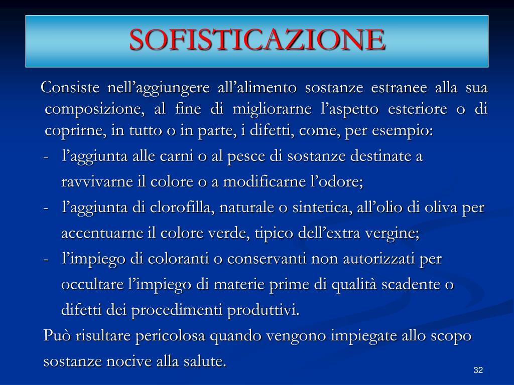 SOFISTICAZIONE