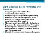 eight evidence based principles and practices