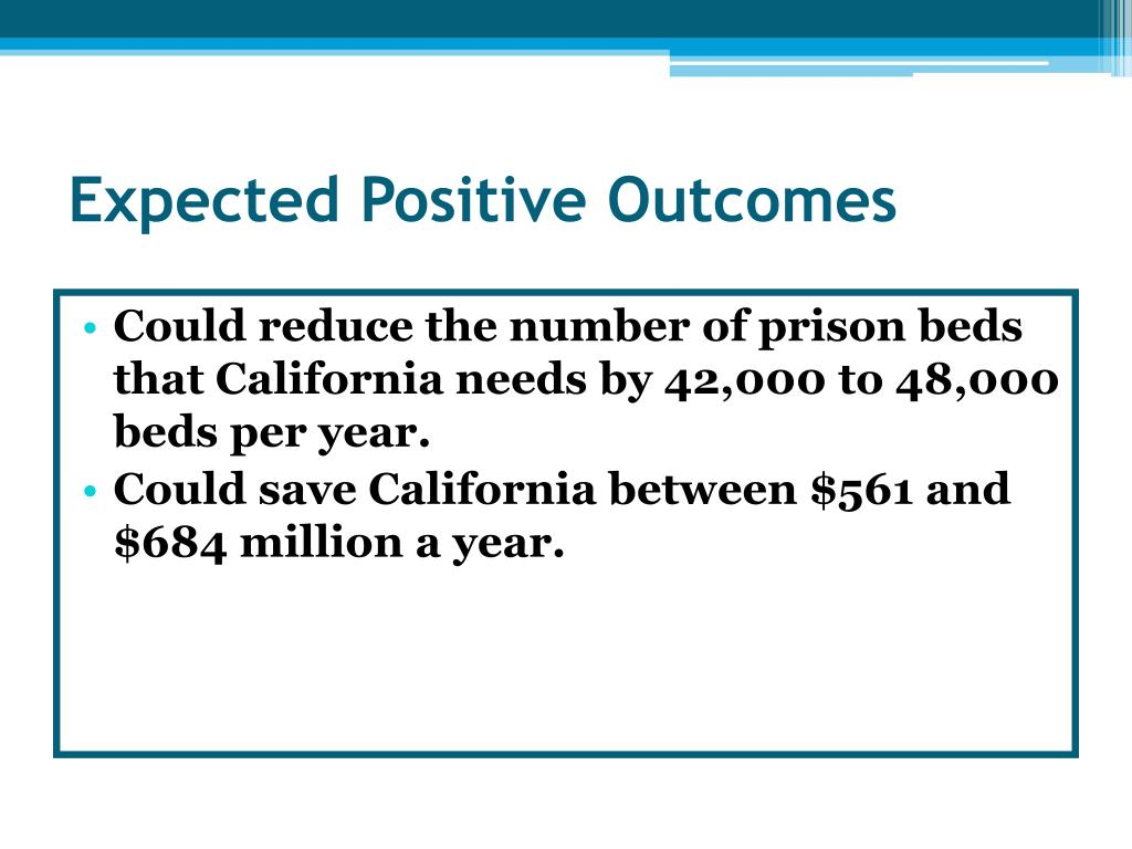 Expected Positive Outcomes