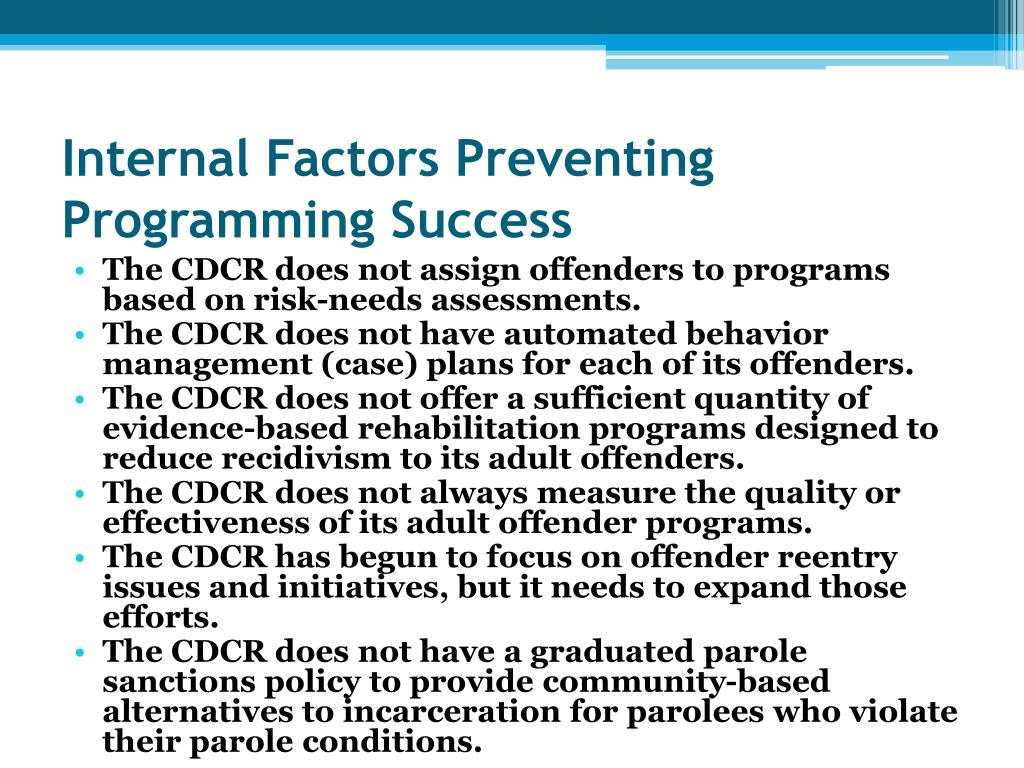 Internal Factors Preventing Programming Success