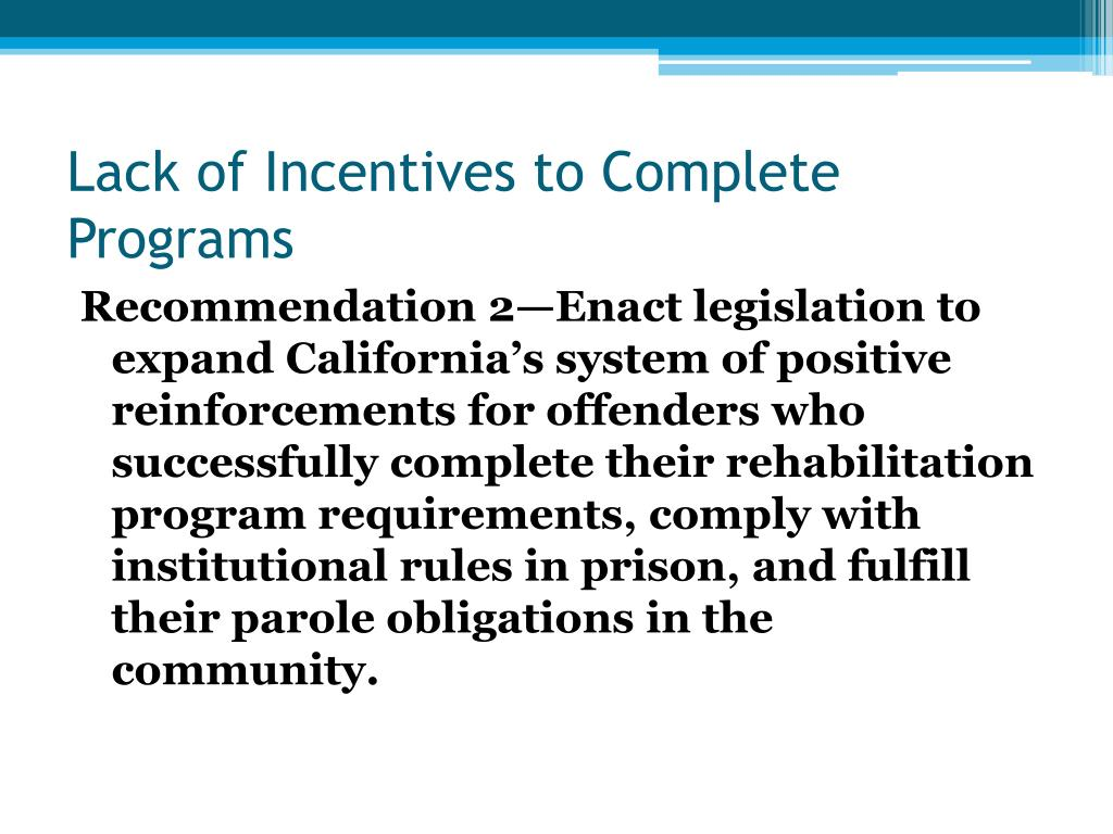 Lack of Incentives to Complete Programs