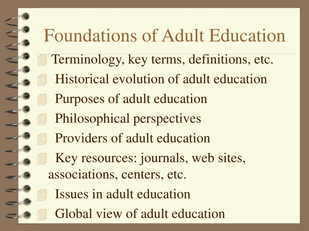 Foundations of Adult Education
