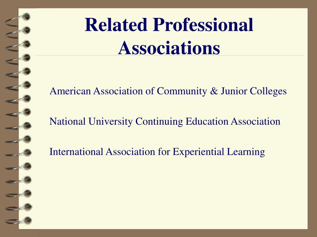 Related Professional Associations