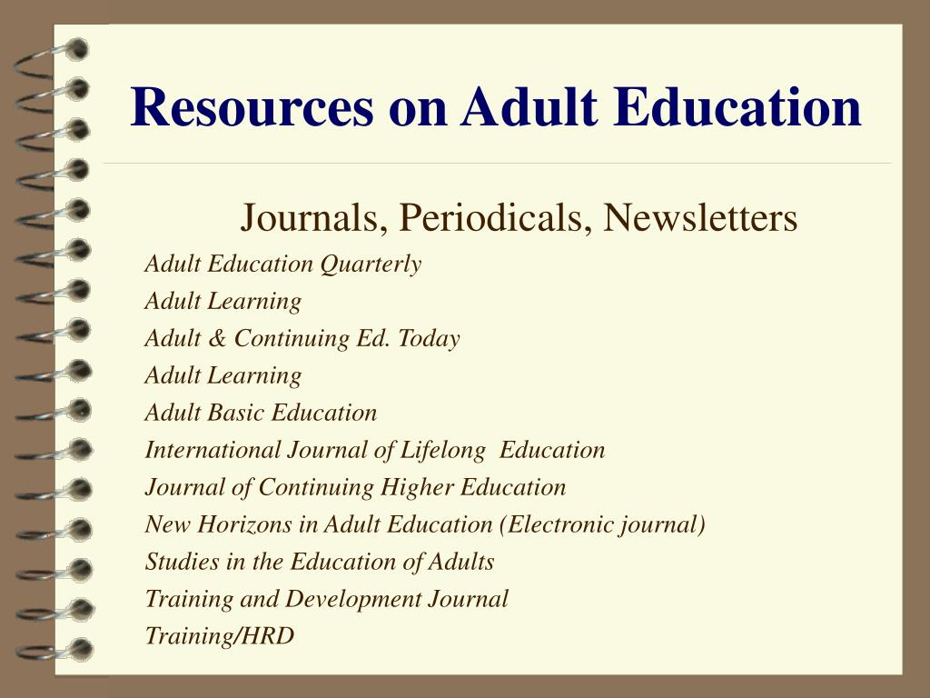 Resources on Adult Education