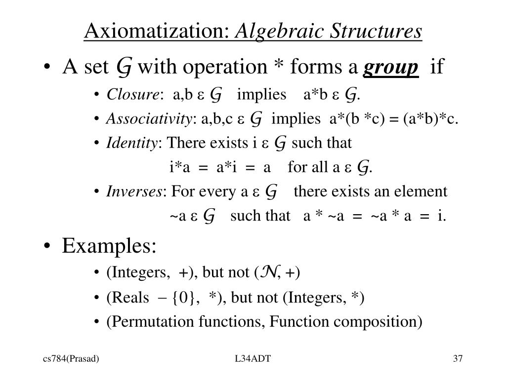 Axiomatization: