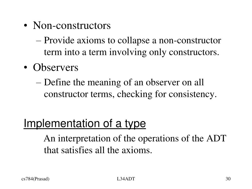 Non-constructors