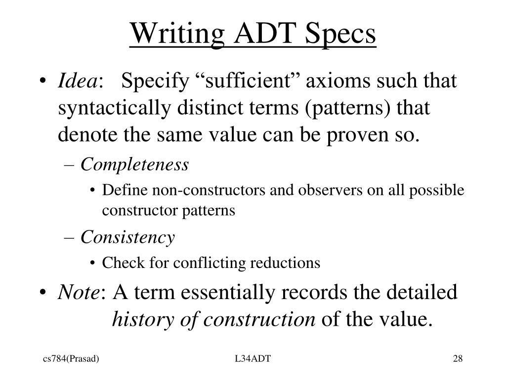 Writing ADT Specs