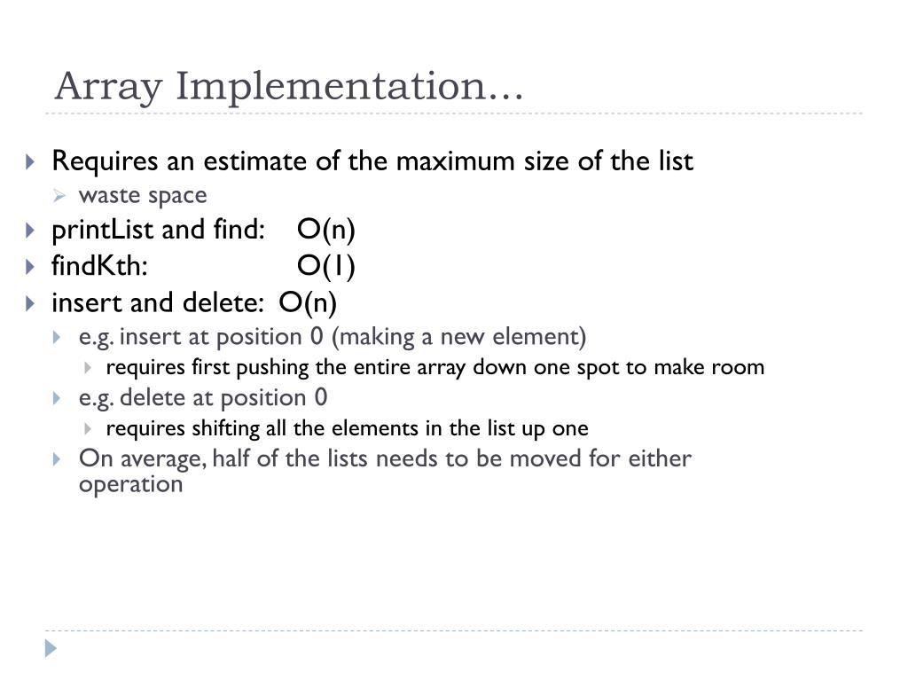 Array Implementation...