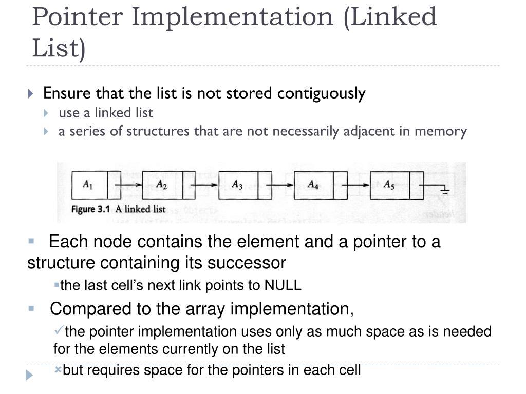 Pointer Implementation (Linked List)