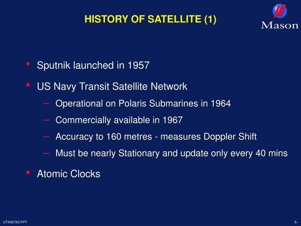HISTORY OF SATELLITE (1)