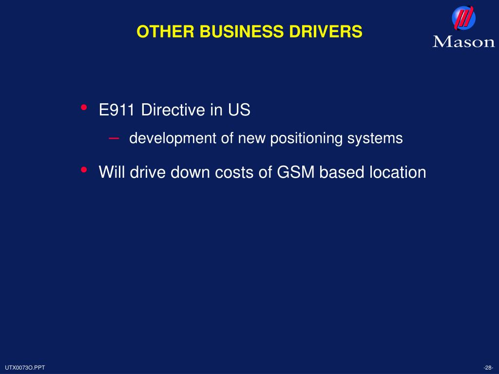 OTHER BUSINESS DRIVERS