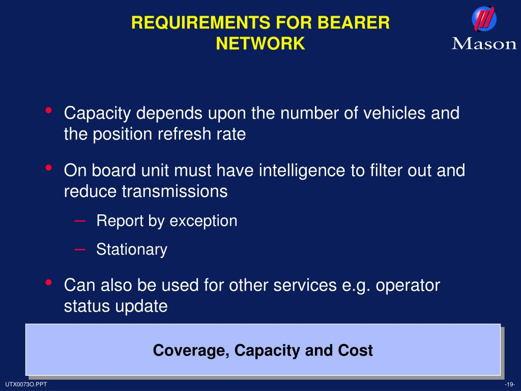 REQUIREMENTS FOR BEARER NETWORK