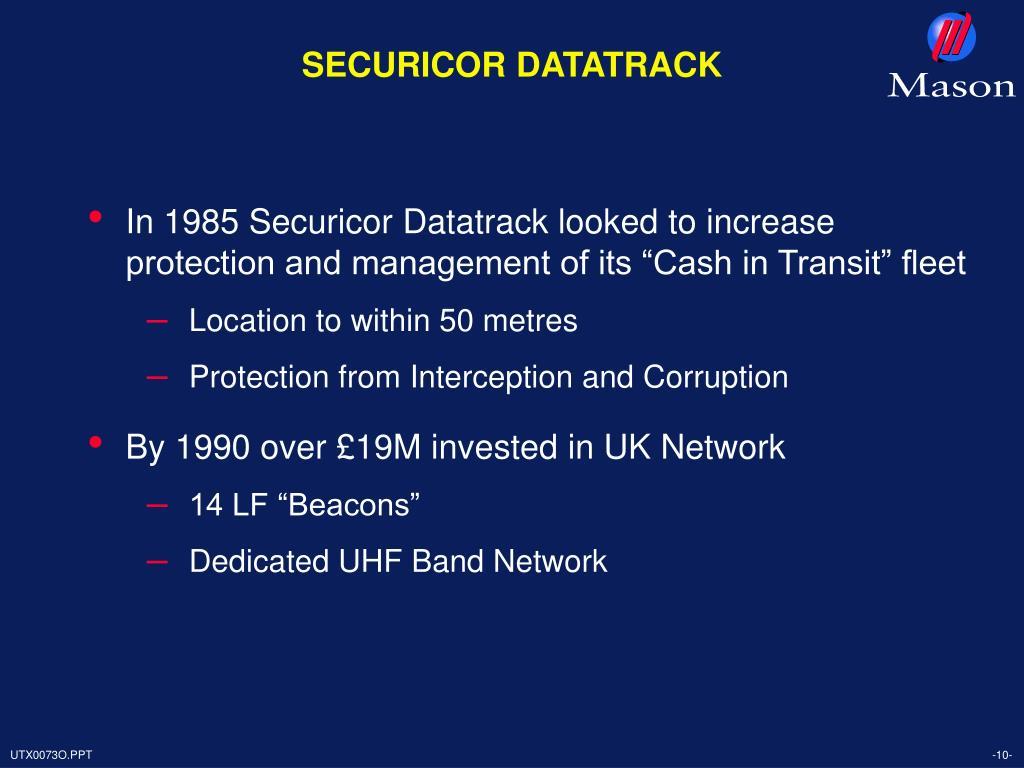 SECURICOR DATATRACK