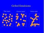 gelled emulsions