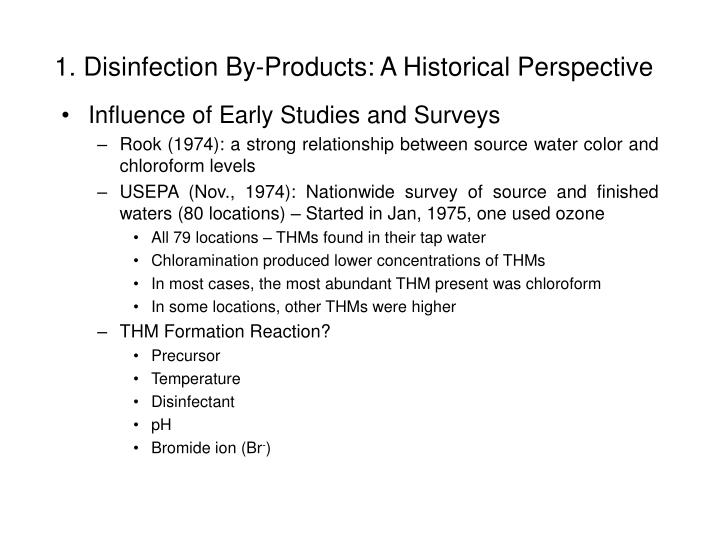 1 disinfection by products a historical perspective2