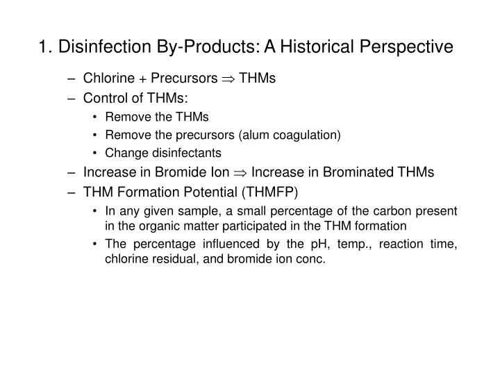 1 disinfection by products a historical perspective3