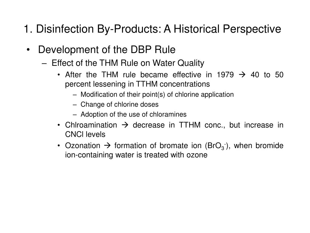 1. Disinfection By-Products: A Historical Perspective