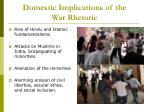 domestic implications of the war rhetoric