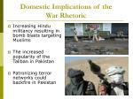 domestic implications of the war rhetoric17