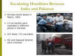 escalating hostilities between india and pakistan