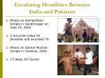 escalating hostilities between india and pakistan7