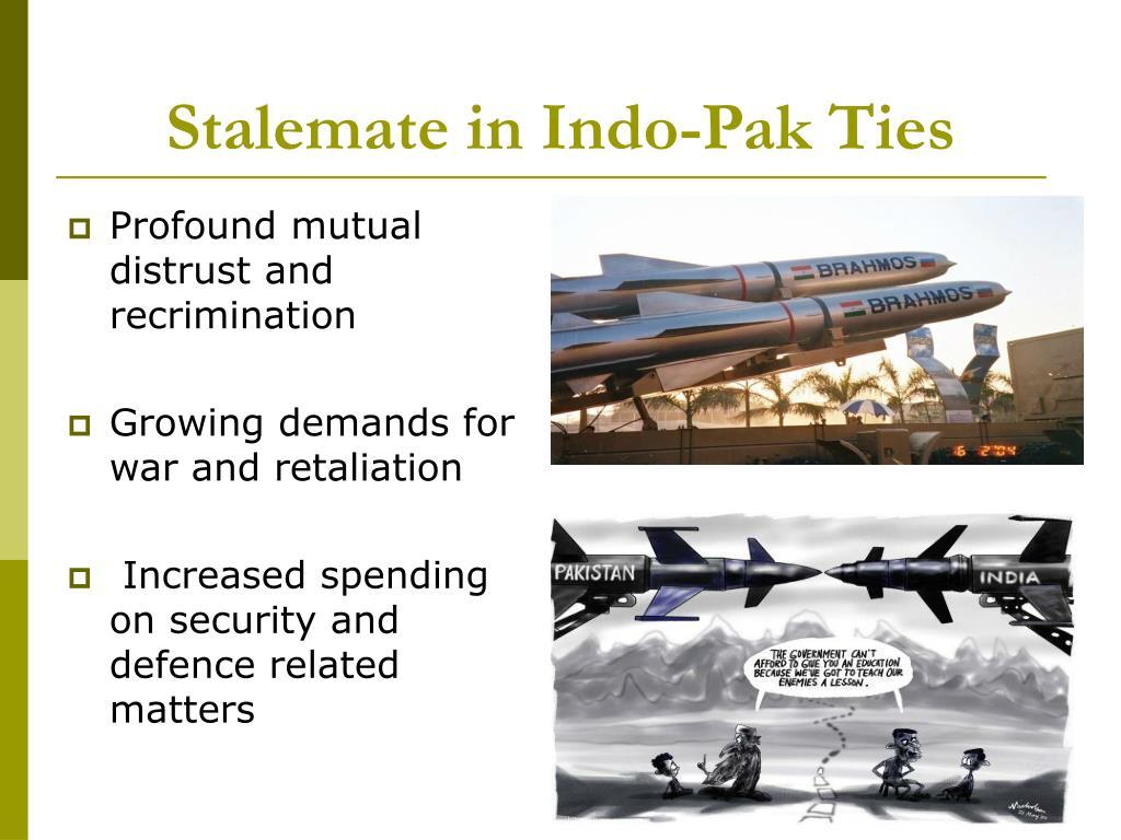 Stalemate in Indo-Pak Ties