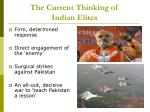 the current thinking of indian elites