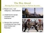 the way ahead moving from state security to human security19