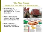 the way ahead moving from state security to human security20