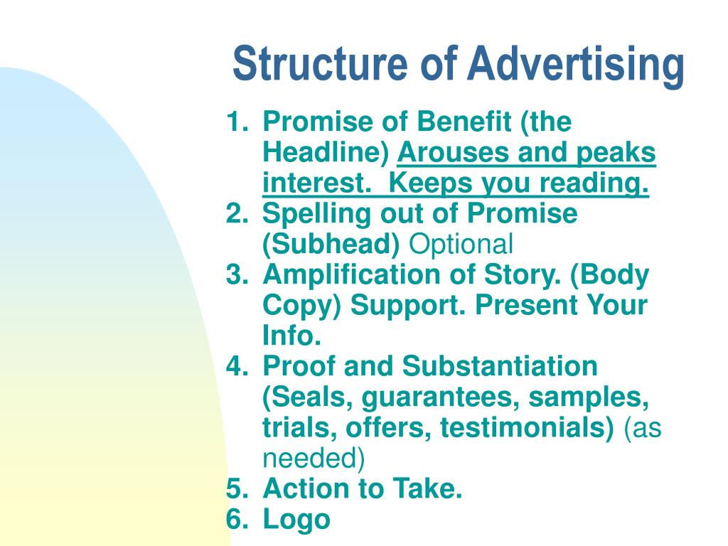 Structure of Advertising