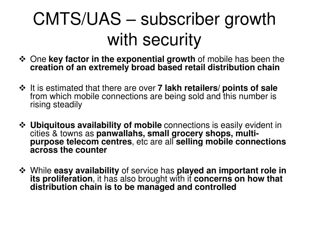 CMTS/UAS – subscriber growth with security