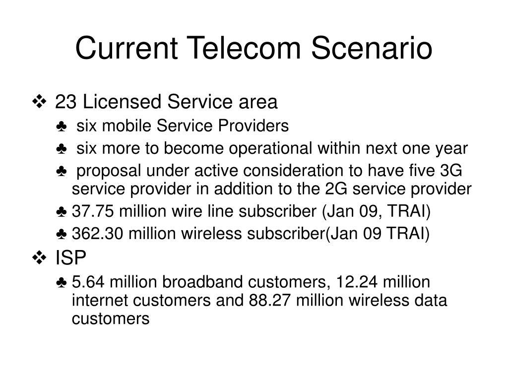 Current Telecom Scenario