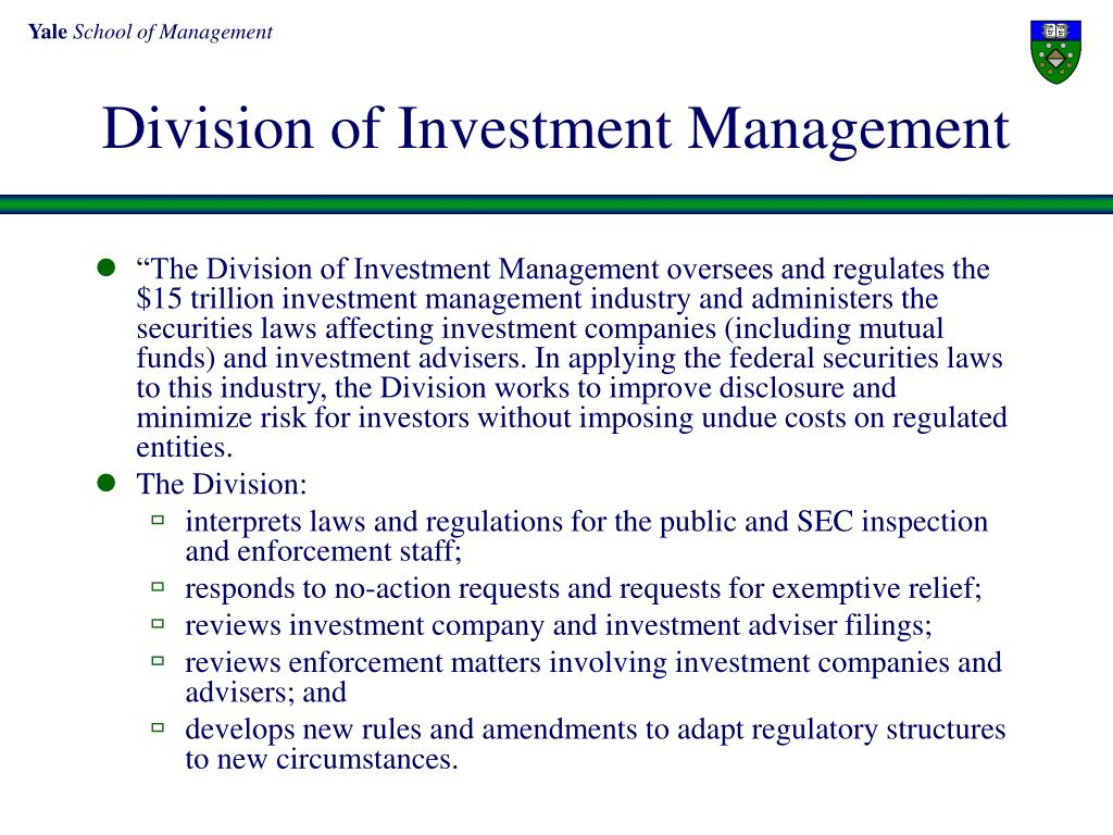 Division of Investment Management