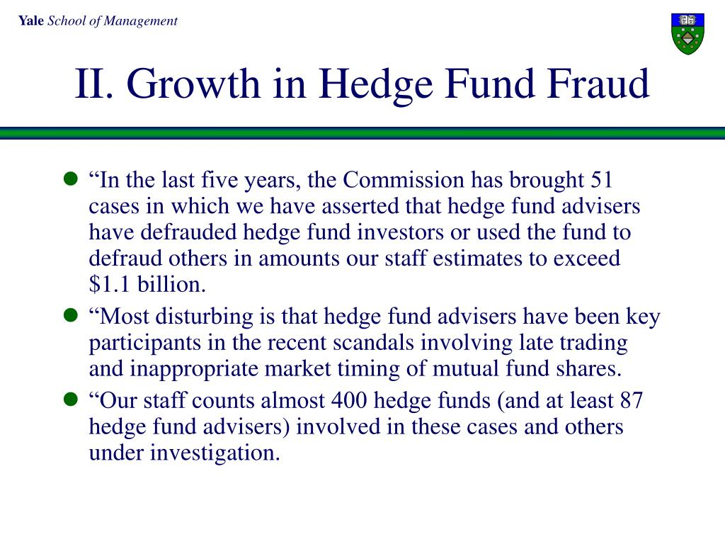 II. Growth in Hedge Fund Fraud