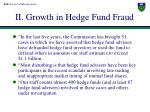 ii growth in hedge fund fraud