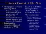 historical context of film noir