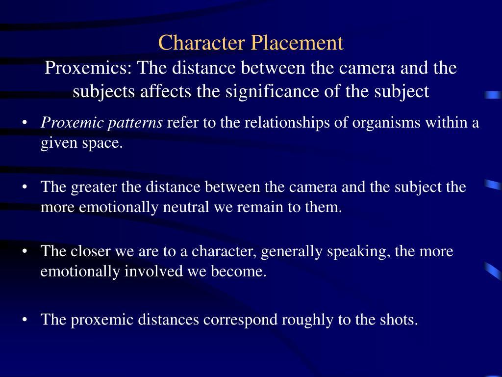Proxemic patterns