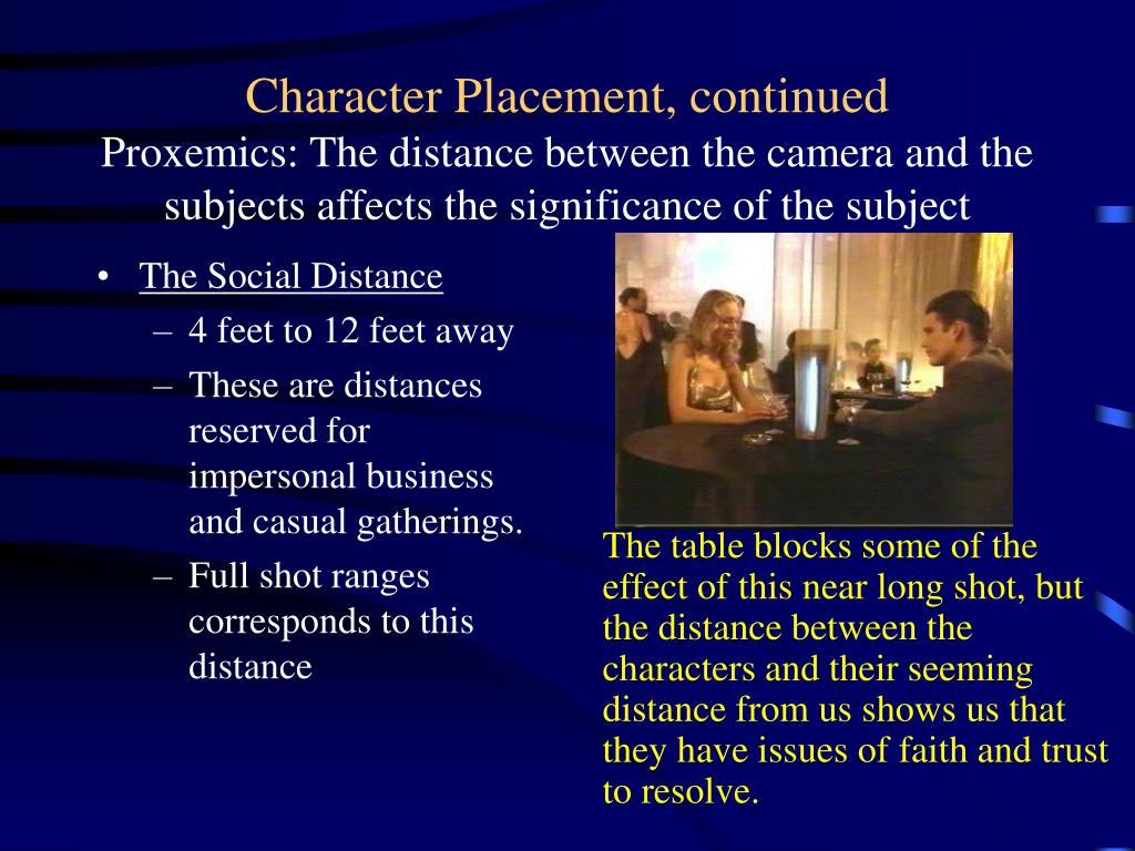 The Social Distance