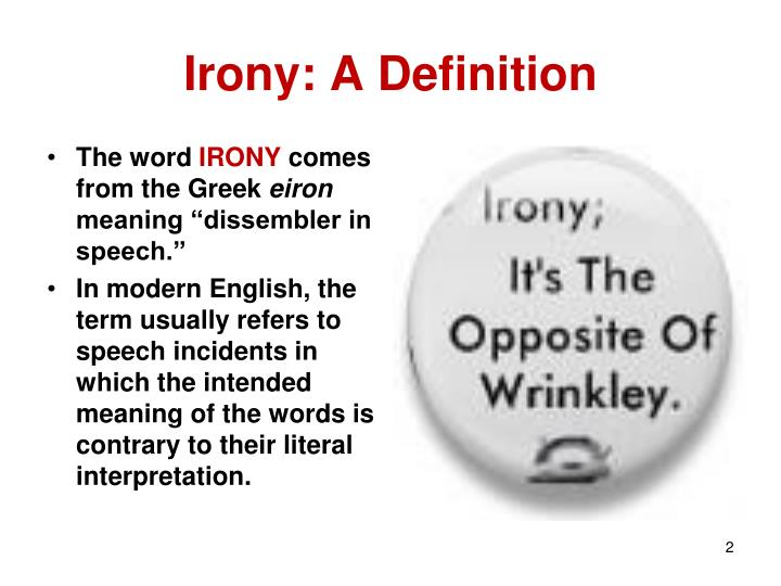 Irony a definition