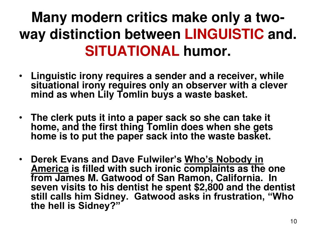 Many modern critics make only a two-way distinction between