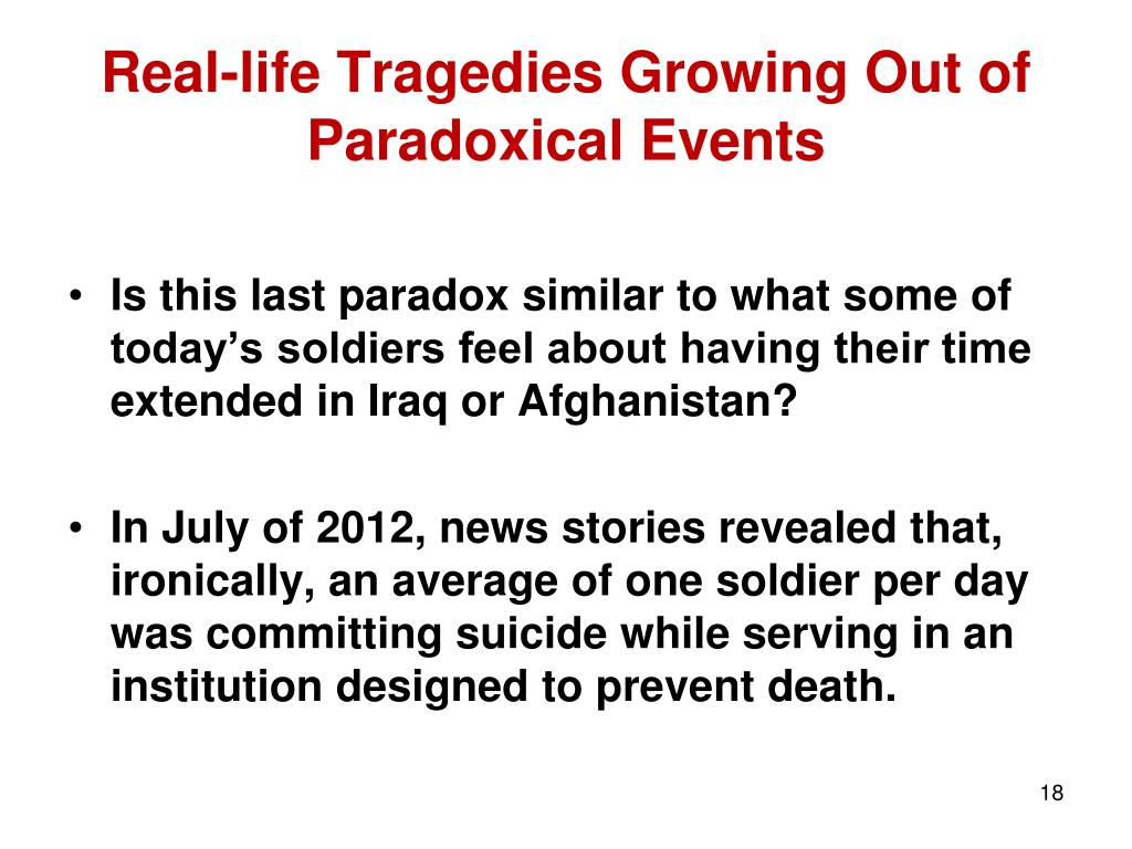 Real-life Tragedies Growing Out of Paradoxical Events