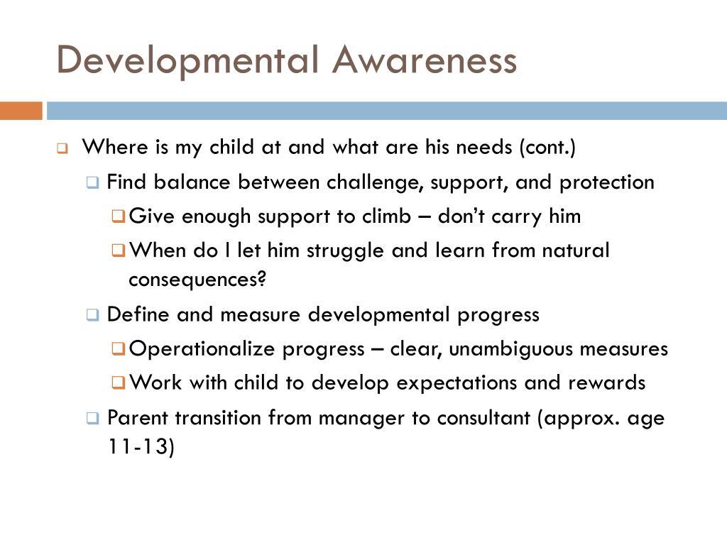 Developmental Awareness