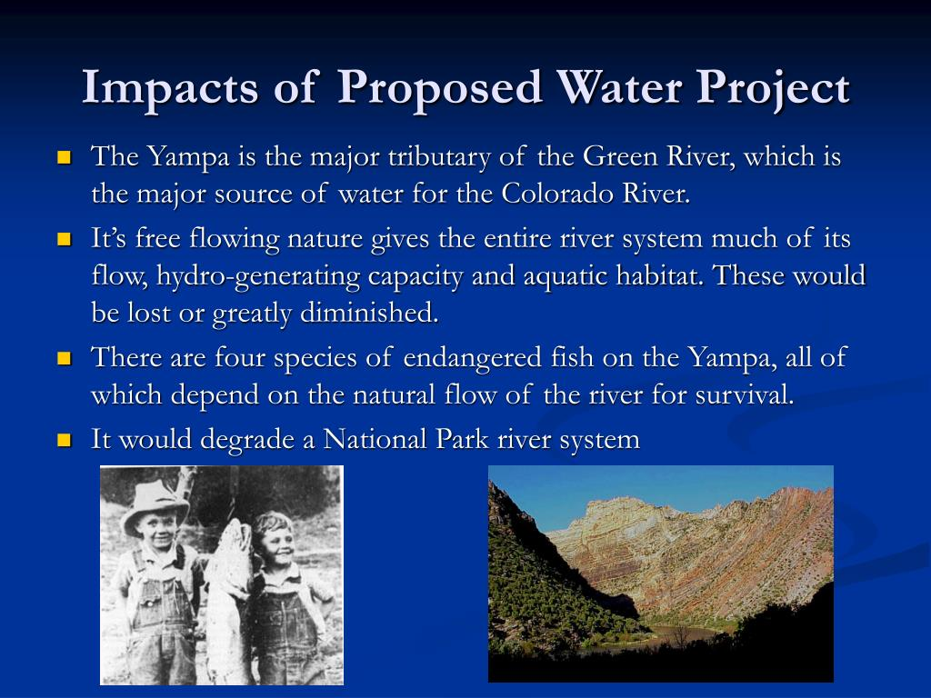 Impacts of Proposed Water Project