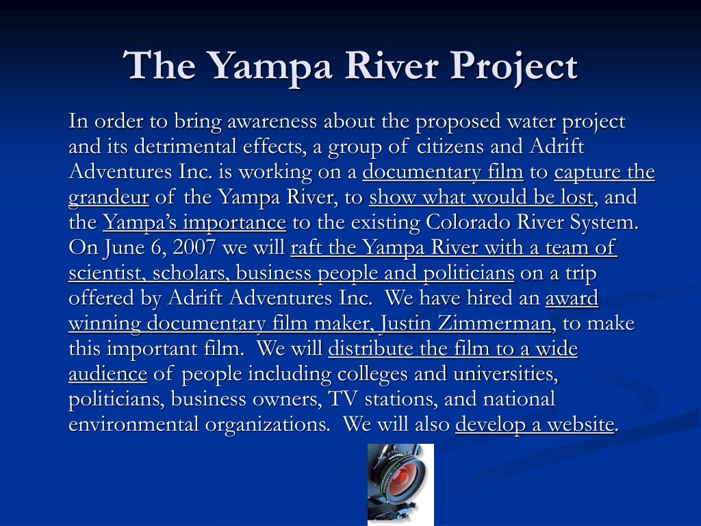 The Yampa River Project