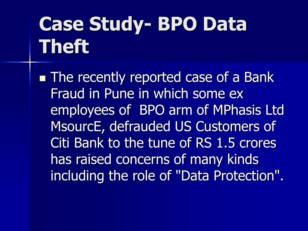 Case Study- BPO Data Theft