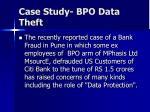 case study bpo data theft