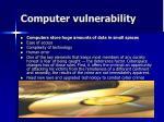 computer vulnerability
