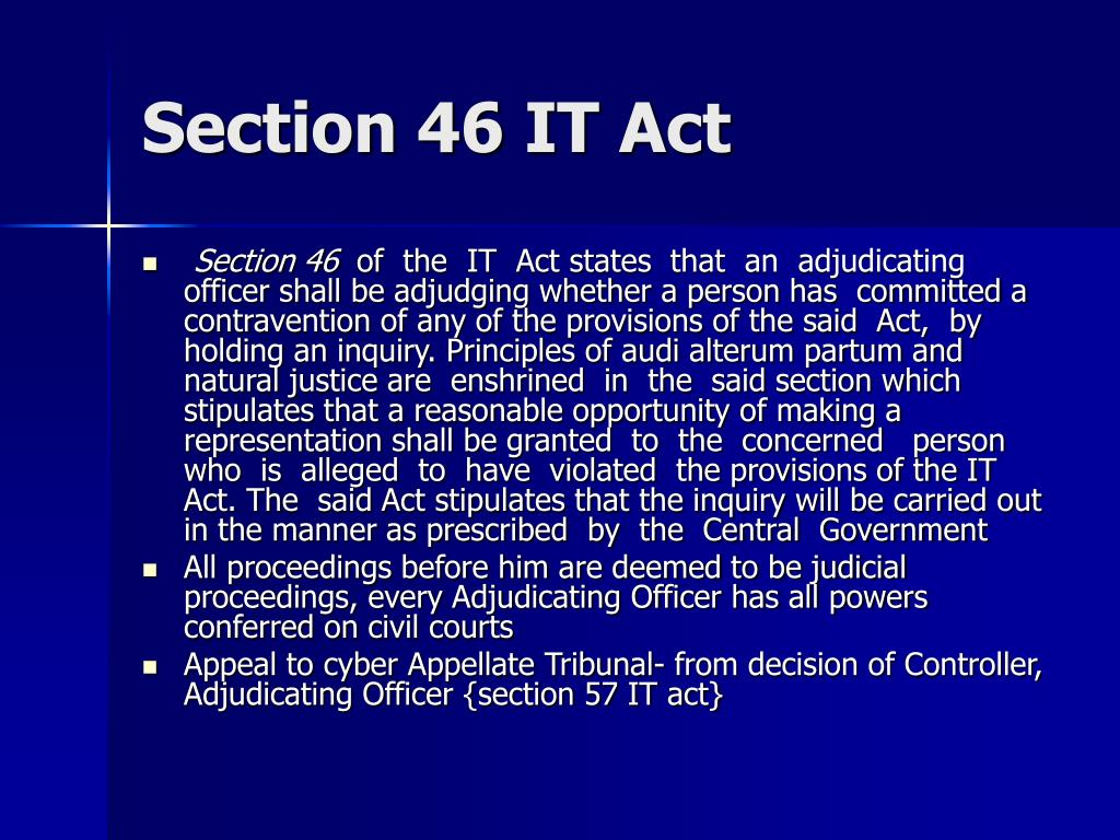Section 46 IT Act