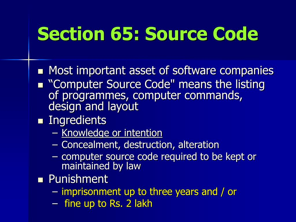 Section 65: Source Code