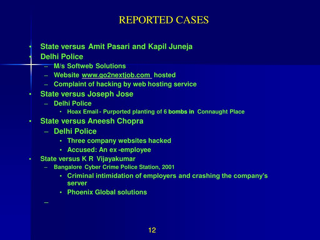 REPORTED CASES